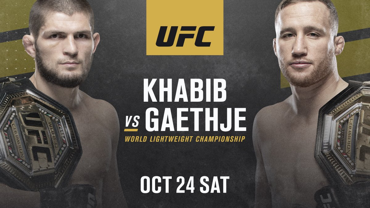 Khabib Nurmagomedov vs. Justin Gaethje Set for October 24